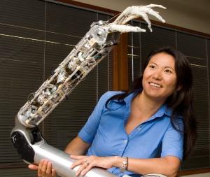 Prof. Yoky Matsuoka and her robotic hand
