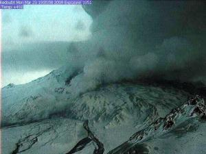Mt. Redoubt erupting on March 23rd (AVO)